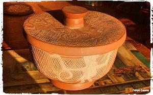 A clay bowl.
