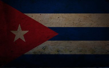 Cuba-Flag-on-Grunge-Wall